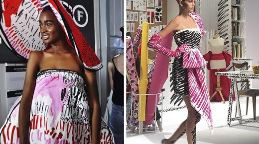 A Moschino egy fiatal tervező munkáját használta fel