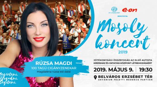 Az Út a Mosolyért Alapítvány és az e.on bemutatja: Mosoly Koncert 2019 – Rúzsa Magdi és a 100 Tagú Cigányzenekar jótékonysági koncertje