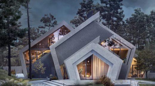 Egy betonház, amit a természet inspirált