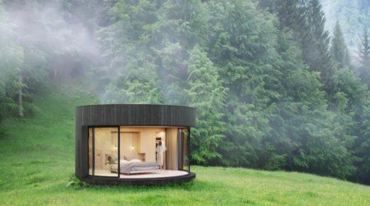 Ultramodern kabin a természet ölében