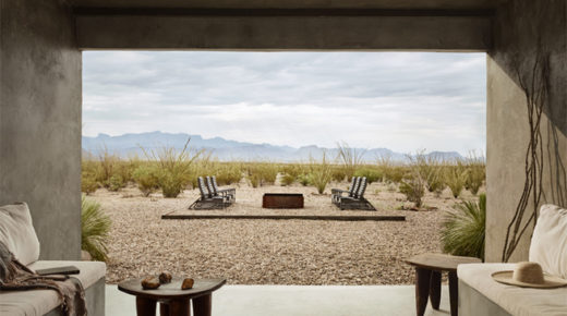 Minimalista szálloda a Texas-i sivatag szívében