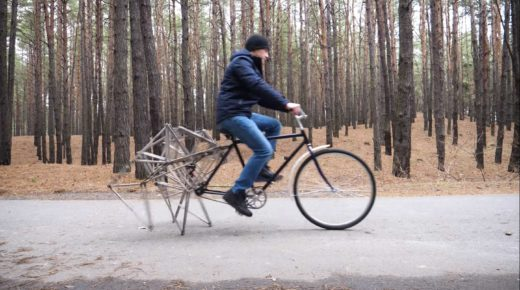 """Szemet gyönyörködtető """"gyalogos"""" kerékpár"""