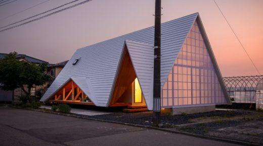 Új divat Japánban: sátor alakú házak