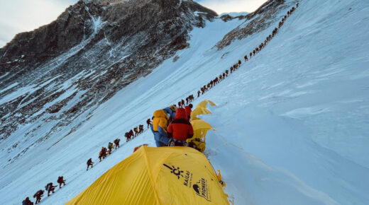 Dugó a Mount Everesten