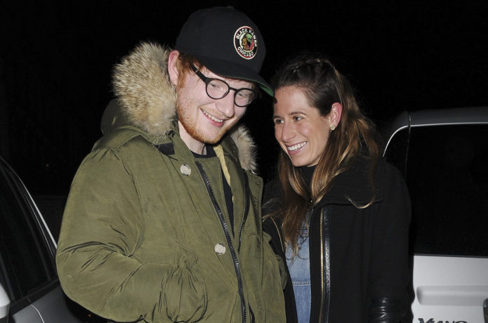 Ed Sheeran and New girlfriend seen out and about in London enjoying Dinner together  Pictured: Ed Sheeran Cherry Seaborn Ref: SPL1455673  040317   Picture by: FPS / Splash News  Splash News and Pictures Los Angeles:310-821-2666 New York:212-619-2666 London:870-934-2666 photodesk@splashnews.com