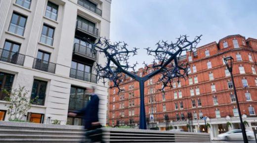 Lenyűgöző alumínium fa Londonban