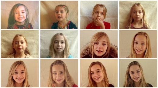 Ez az Apa éveken át készített portrékat lányáról