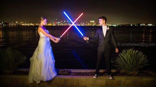 Csillagok háborúja inspirálta esküvő