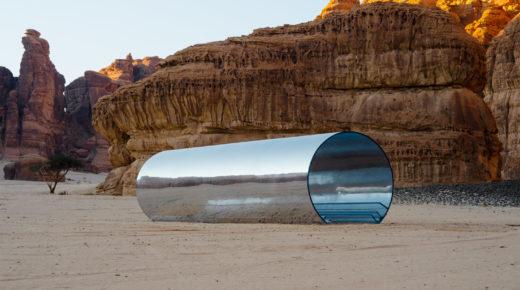 Kortárs kiállítás a Szaúd-Arábiai sivatagban