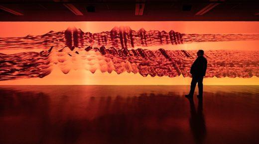 Kiváló installációk Miguel Chevalier színes grafikáival