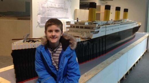 Autista kisfiú építette meg a világ legnagyobb Titanic makettjét