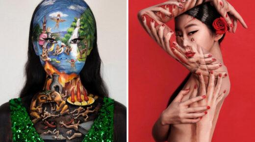 Megbabonázva nézik az embereket ezeket a képeket: a művész testét többször is meg kell nézni